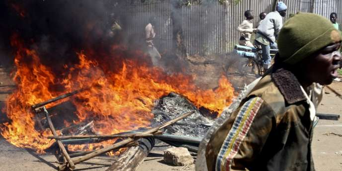 Manifestation à Kisumu, au Kénya, le 29 octobre.