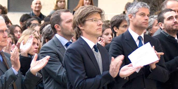 Hervé Crès, administrateur provisoire de Sciences Po, lors d'une cérémonie d'hommage au défunt Richard Descoings, le 4 avril 2012.