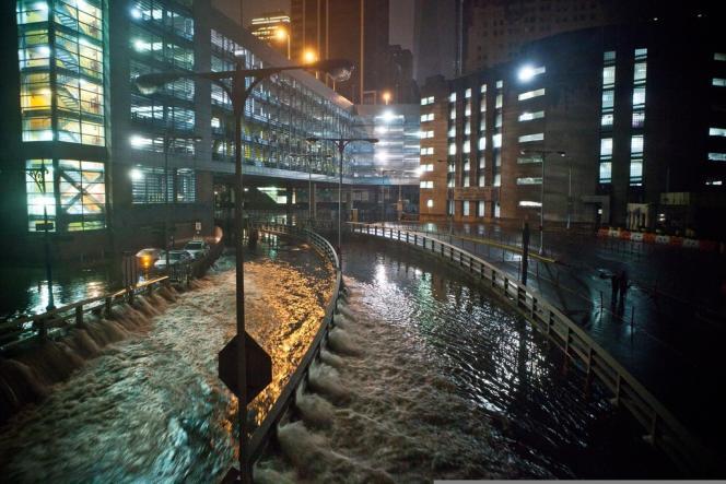 A New York, à la suite du passage de l'ouragan Sandy, en octobre 2012.