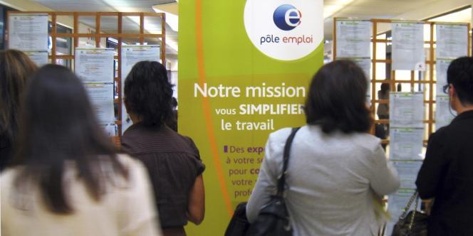 Dans une agence de Pôle Emploi, à Nice, le 23 octobre 2012.