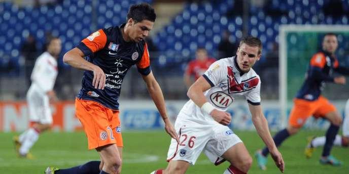 Montpellier a battu Bordeaux mercredi en 8e de finale de Coupe de la Ligue (1-0).