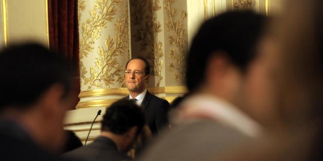François Hollande lors du sommet franco-espagnol, le 10 octobre 2012 au palais de l'Elysée.