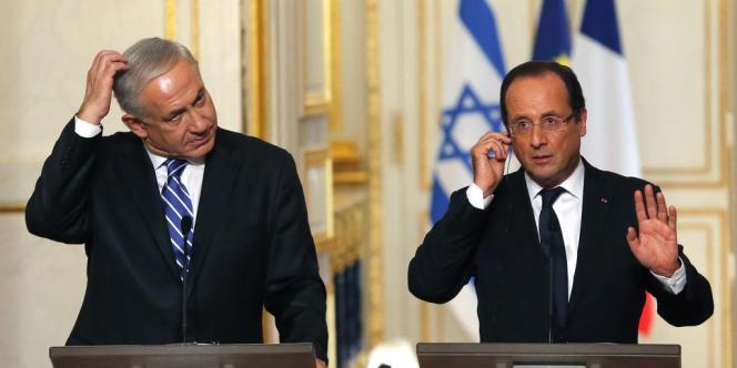 Le Premier ministre israélien Benjamin Netanyahou et le président français François Hollande à Paris le 31 octobre 2012.