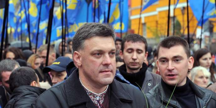 Le dirigeant du parti Svoboda, Oleg Tiagnybok, le 14 octobre 2012 à Kiev.