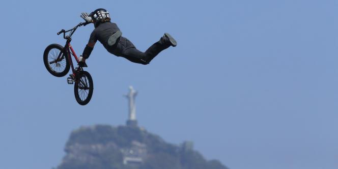 Ici l'Américain Morgan Wade en action lors du contest de Rio de Janeiro, le 26 août.