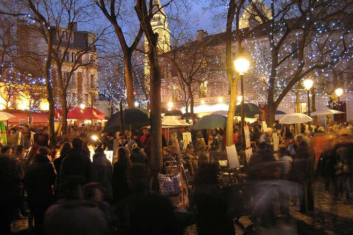 La place du Tertre à Paris.