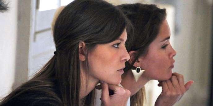 Géraldine Pillet et Jennifer Priez, le 16 octobre au tribunal de Montpellier.