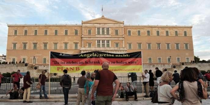 Manifestation contre la venue d'Angela Merkel à Athènes, le 8 octobre 2012.