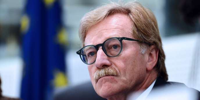 Yves Mersch, gouverneur de la Banque centrale du Luxembourg, à Strasbourg, le 22 octobre 2012.