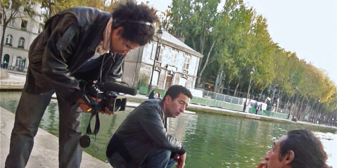 Le réalisateur Rachid Djaïdani sur le tournage de son film,