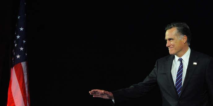 Mitt Romney, quelques instants avant de reconnaître sa défaite, le soir du 6 novembre, à Boston.