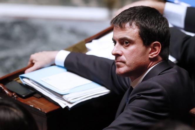 Manuel Valls, ministre de l'intérieur, le 6 novembre 2012, à l'Assemblée nationale, à Paris.
