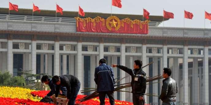 Pékin, place Tiananmen, le 7 novembre, à la veille de l'ouverture du 18e congrès du PCC.