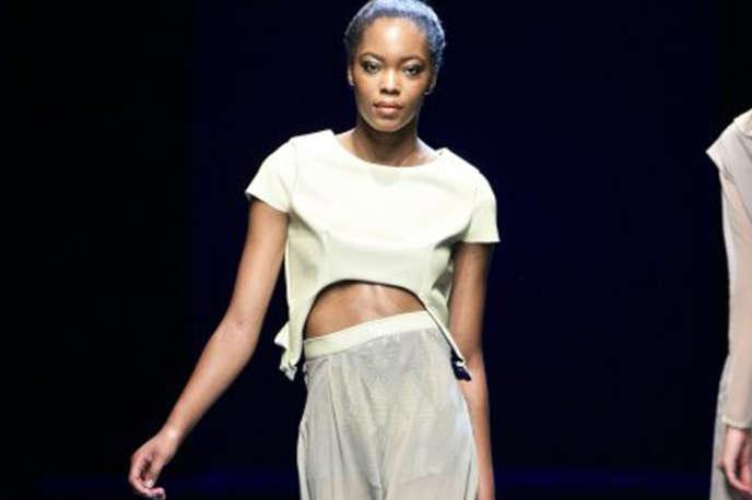 Défilé Tina Lobondi lors de la Semaine de la mode de Johannesburg, fin octobre.