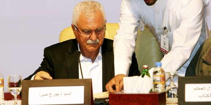 Georges Sabra, chrétien et ancien communiste, le 9 novembre à Doha, au Qatar.