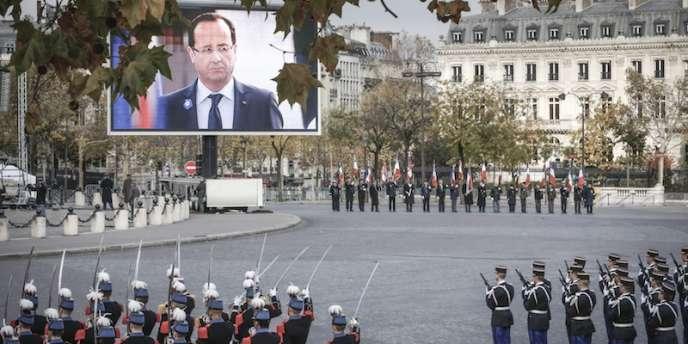Aux cérémonies du 11-Novembre à Paris.