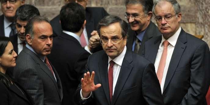 Le premier ministre grec Antonis Samaras, le 11 novembre 2012 au Parlement à Athènes.