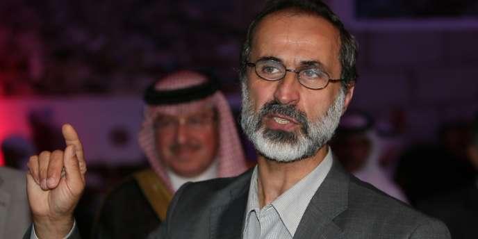 Le chef de la nouvelle coalition de l'opposition syrienne, Ahmed Moaz Al-Khatib, au Caire le 11 novembre.
