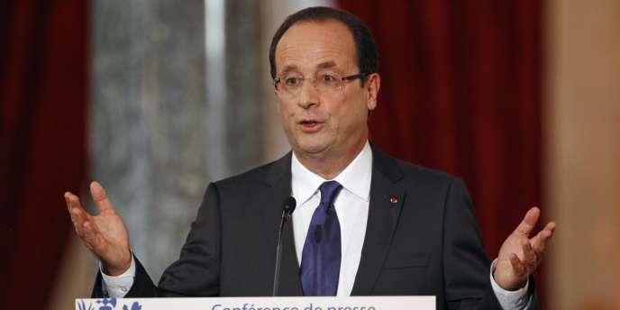 François Hollande lors de sa conférence de presse à l'Elysée le 13 novembre 2012.