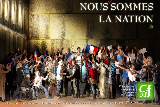 L'affiche du Collectif contre l'islamophobie en France.