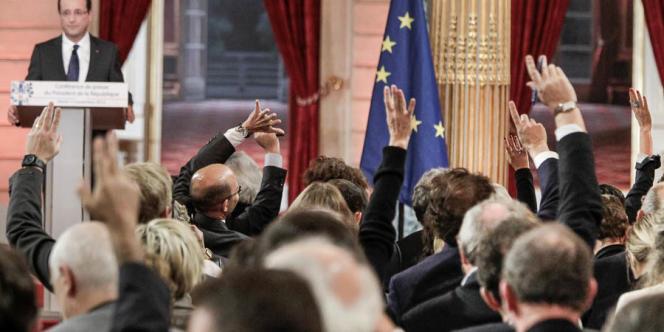 François Hollande lors de sa conférence de presse du 13 novembre 2012.