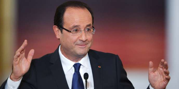 François Hollande pendant sa conférence de presse, mardi 13 novembre à L'Elysée.