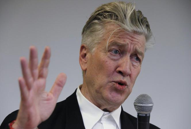 Le réalisateur David Lynch lors d'une conférence de presse à Lille, le 18 avril 2010.