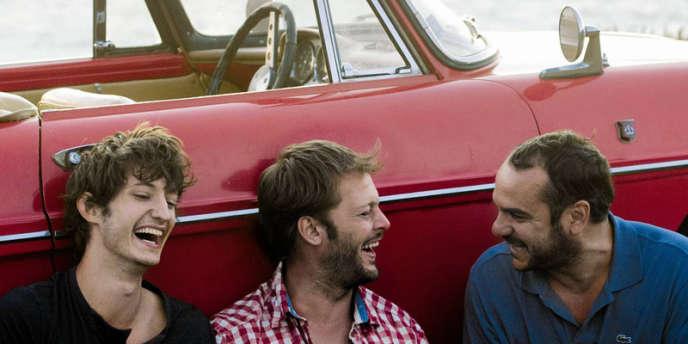 Pierre Niney, Nicolas Duvauchelle et François-Xavier Demaison dans le film français d'Hugo Gélin,
