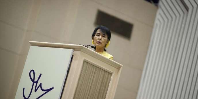 Aung San Suu Kyi, à New Delhi, mercredi 14 novembre 2012.