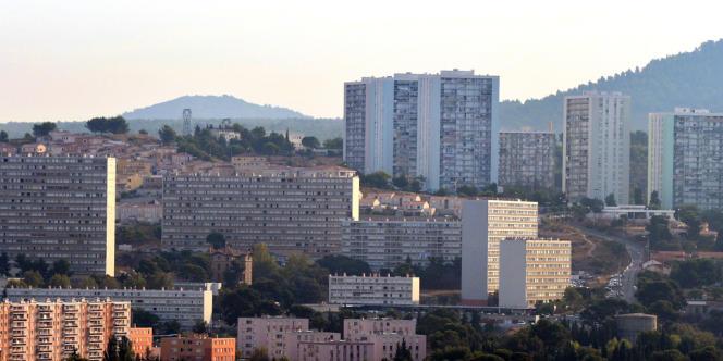 Vue des quartiers nord de Marseille, le 6 septembre.