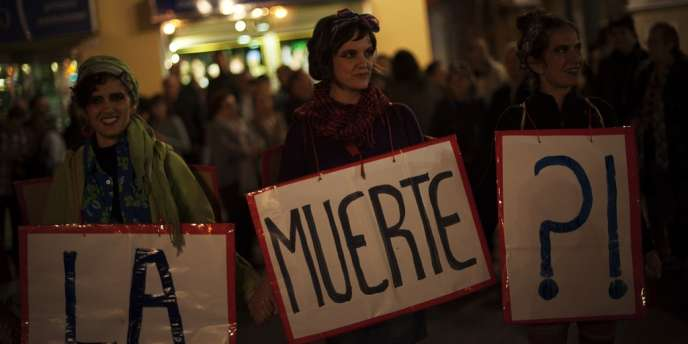 Manifestation à Malaga (Espagne), le 14 novembre.