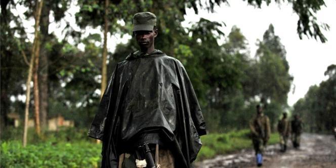 Un soldat du groupe rebelle M23, le 17 octobre à Rangira.