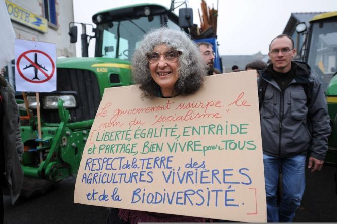 Manifestation d'agriculteurs contre le projet d'aéroport de Notre-de-Dame-des-Landes (Loire-Atlantique), le 17 novembre 2012.