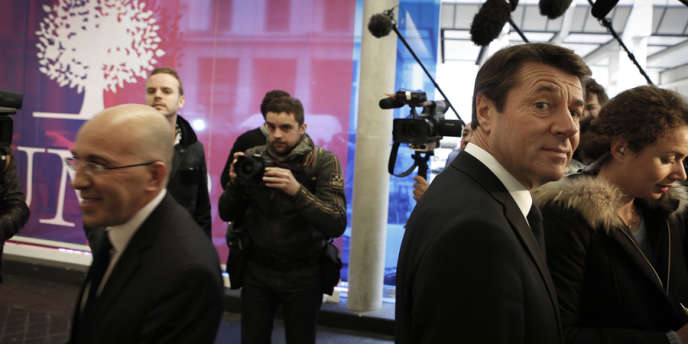 Eric Ciotti et Christian Estrosi au siège de l'UMP, à Paris, le 19 novembre 2012.