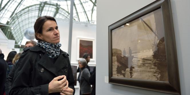 Aurélie Filippetti visite l'exposition