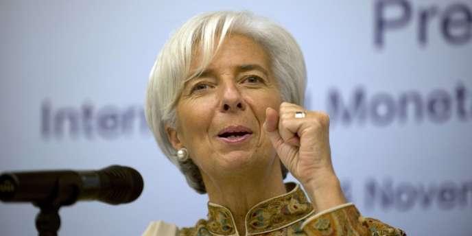 Christine Lagarde, la directrice générale du Fonds monétaire international (FMI), et les ministres des finances de la zone euro vont tenter, le 20 novembre 2012, de sortir la Grèce de l'ornière.