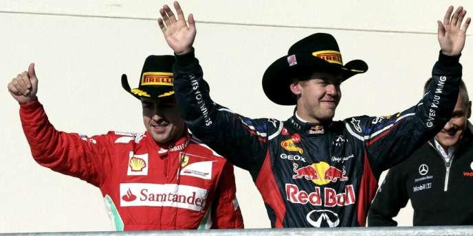 Fernando Alonso et Sebastian Vettel, le 18 novembre au GP des Etats-Unis, à Austin.