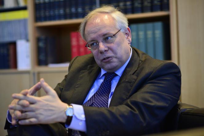 Daniel Spielmann, le président de la Cour européenne des droits de l'homme, dans son bureau de strasbourg.