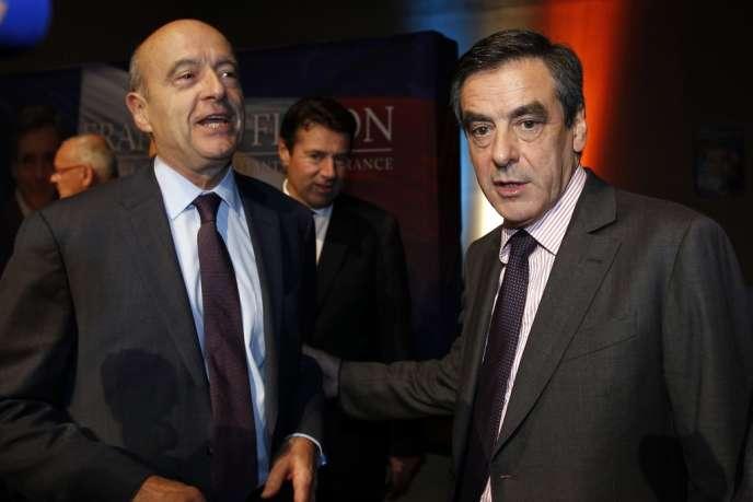 François Fillon et Alain Juppé, le 14 novembre 2012.