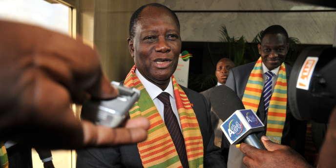 Le président ivoirien Alassane Ouattara, le 23 octobre 2012.