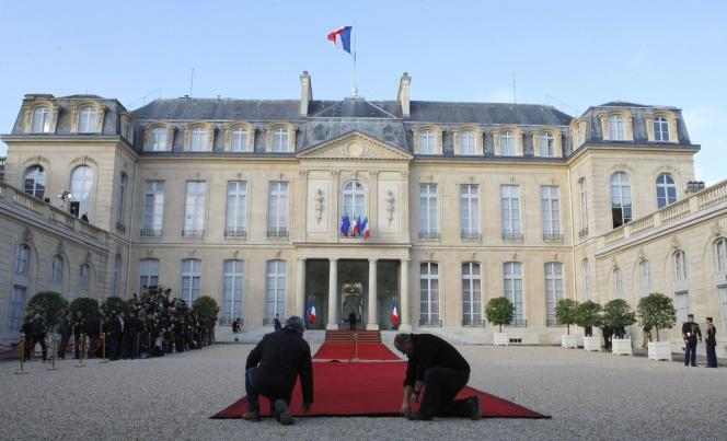 L'Elysée, le 15 mai 2012, jour de la passation de pouvoirs entre Nicolas Sarkozy et François Hollande.