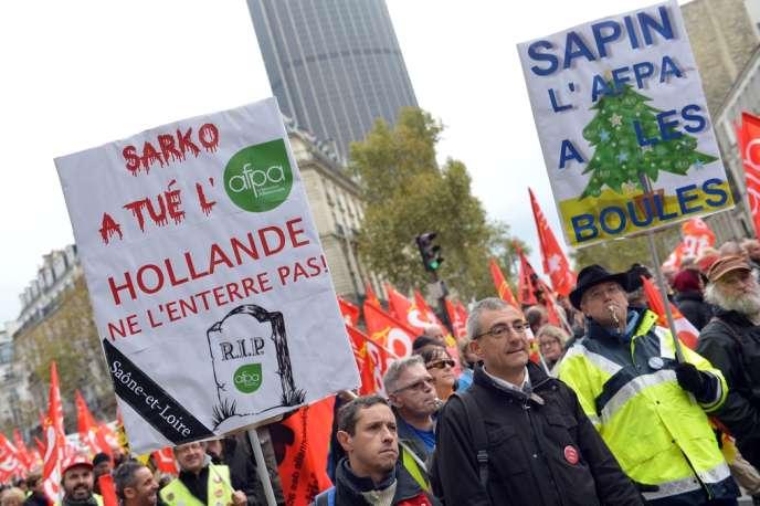 Dans la manifestation, jeudi, à Paris.