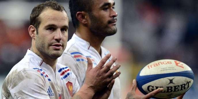 Frédéric Michalak, l'un des artisans de la victoire française face aux Samoans, samedi 24 novembre au Stade de France.