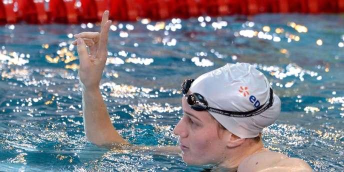Camille Muffat, nouvelle détentrice du record du monde sur 400m en petit bassin.