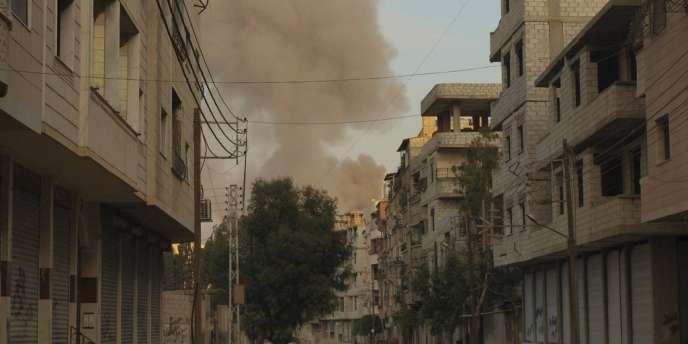 Dans le quartier de Daria, près de Damas, le 22 novembre.