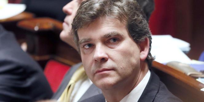 Arnaud Montebourg lors de la séance des questions aux gouvernement à l'Assemblée nationale, le 21 novembre.