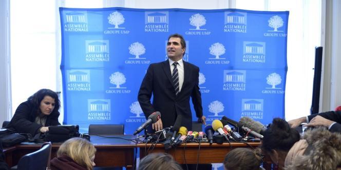 Christian Jacob, le jeudi 27 novembre, lors d'une conférence de presse à l'Assemblée nationale.