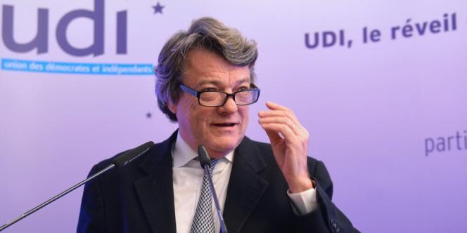 Jean-Louis Borloo, lors de l'inauguration du siège de l'UDI, le 28 novembre à Paris.
