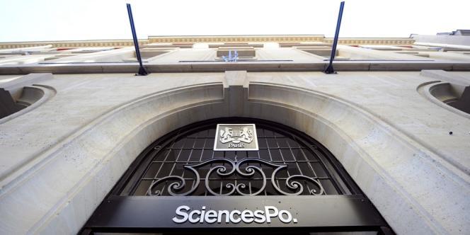 L'entrée de l'Institut de Sciences politiques (Sciences Po) à Paris.