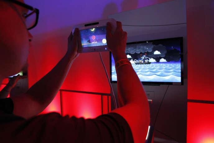 Une démonstration de la console Wii U.